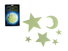 15 Pc Set: Luminous Stars and Moon Sticker Decal Bright Stern Children