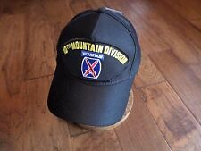 U.S ARMY 10TH MOUNTAIN DIVISION HAT OFFICIAL MILITARY BALL CAP U.S.A MADE