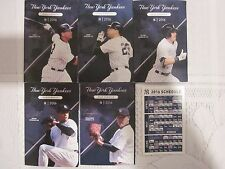 2016 New York Yankees Pocket Schedules Set of 5 >>>------->WITH BONUS<-------<<<