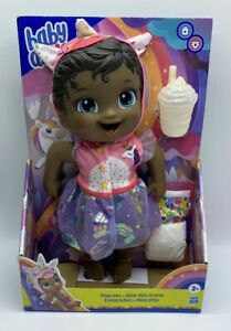 Baby Alive Tinycorns Doll Unicorn With Accessories Black Hair Age 3+ New