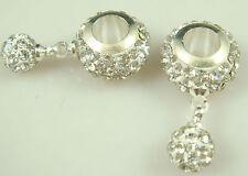 Gorgeous Czech Crystals Dangle Bead fit European Charm Bracelet Earrings ad12