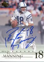 Peyton Manning Autographed 2001 Upper Deck Legends Card