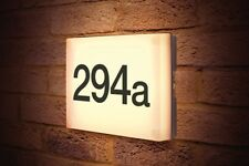 DOOR NUMBER SIGN LED LIGHT PLAQUE, AUTO OFF IN DAYTIME PHOTOCELL inc numbers