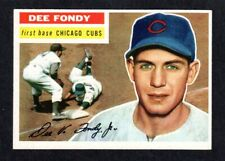 1956 TOPPS #112 Dee Fondy  CHICAGO CUBS  EX-MINT  ( Gray Back )   A