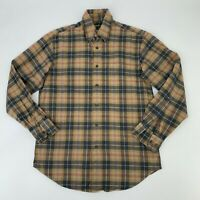 Orvis Luxury Long Sleeve Flannel Shirt Men's Size S Button Down Gingham Plaid