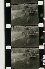HOME MOVIE LATE 30TH B & W 16MM FILM MOVIE ROLLED NO REEL D71