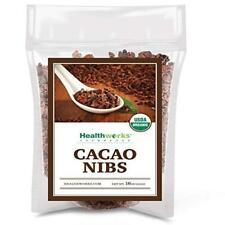 Healthworks Cacao Nibs Raw Organic (16 Ounces / 1 Pound) | Criollo Bean |