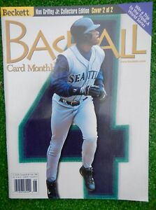 KEN GRIFFEY JR  On Cover Beckett Baseball Card Monthly Aug 1999 #173  NO LABELS