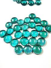 25 Aqua Blue Decorative Glass Pebbles Rocks Cabochons Transparent-5 ounce