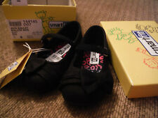 NEW in Box Sz 6 Smartfit Girls Ava Ballet Black Casual Dress Shoes with Bow