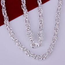 Cool 925Sterling Silver Dragon Head Strong Men's Chain Necklace GN048