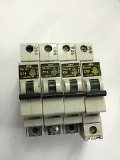 2X AEG Elfa E81 C16 Circuit Breakers (B634)