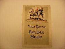 Original Victor Phonograph Record Catalog Pamphlet - Patriotic Music