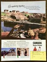 1948 Canadian Travel Bureau PRINT AD Go Exploring Trip Abroad Over the Border