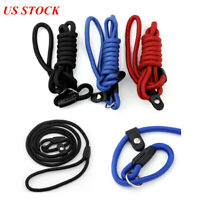 Pet Dog Nylon Rope Training Leash Slip Lead Strap Adjustable Traction Collar US