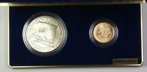 1987 U.S. Mint Constitution $1 Silver + $5 Gold BU Coin Set OGP w/Box & COA JAH