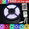 5M RGB 5050 300 LED Tape Strip light SMD 12V DC+ 44 Key IR remote controller Kit