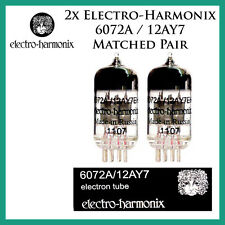 New 2x Electro Harmonix 6072 / 12AY7 | Matched Pair / Duet / Two Tubes | EH