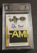2013 Leaf US Army TYLER BOYD RC Rare Gold Rookie Patch Autograph SSP 5/5 BGS 9