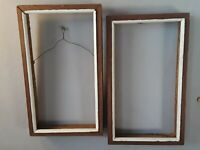 "RUSTIC solid WOOD PICTURE FRAME 18"" X 10"", COUNTRY DECOR nesting"