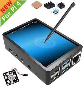 pour Raspberry Pi 4 Écran Tactile avec étui, Écran Tactile 3,5 Pouces avec Venti