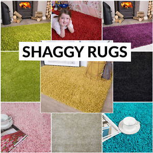 Soft Shaggy Bedside Thick Pile Living Room Bedroom Kids Rug Non Shed Easy Clean