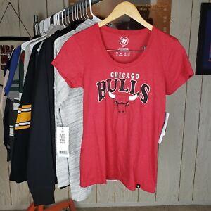 NWT Chicago Bulls Womens S/P 47 Brand Jordan Last Dance Red Black Short sleeve