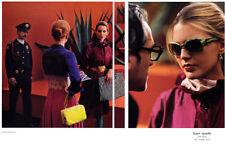 2005 Kate Spade handbag eyewear at the museum 2-page MAGAZINE AD