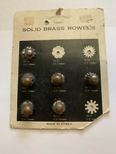 "Weaver 9 Pair Spurs Replacement Solid Brass Rowel Card Assorted (5/8"")"