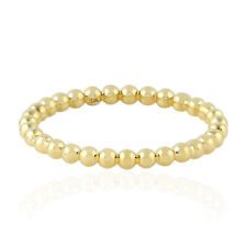 18kt Yellow Gold Band Ring Indian Ethnic Look Women Jewelry