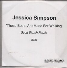 Jessica Simpson These Boots Are Made For Walkin'  PromoCDr + insert UK CD