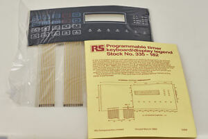 Programmable clock/timer RS Components, daily, weekly, multiple programm outputs