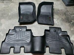 WeatherTech FloorLiner mat set for Jeep Wrangler Unlimited  2014-2018 Black