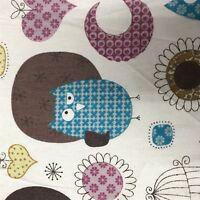 100% Craft Sewing Cotton Owl Pattern Metre Fabric