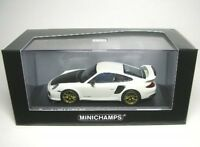 PORSCHE 911 (997 II) GT2 RS (WHITE / GOLD WHEELS ) 2010