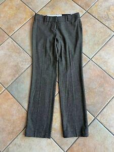 NWT Ann Taylor Petite 2P Modern Fit Wool Blend Marled Gray Straight Leg Pants