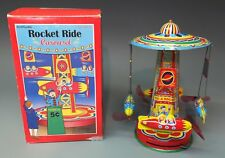 ROCKET RIDE CAROUSEL Wind-Up Tin Toy NEW Schylling-Never Used