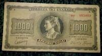 GREECE 1000 Drachmai Banknote 1942