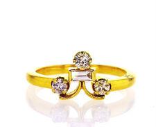 Diamond Ring 0.37 Carat G Color VS1 Clarity Natural Round Cut Vintage Estate