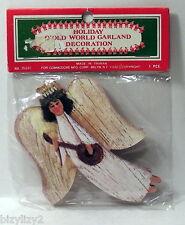 Vintage Commodore Christmas Paper Old World Garland Primitive Angel 9 Feet NIP