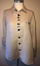 Traditional Trachten S'Gapusi Natural Linen & Wool Shirt Size L