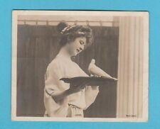ACTRESS  - ROTARY PHOTO / MIDGET POSTCARD  -  ACTRESS  ' LOVE ' - 1904