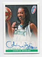 2008 WNBA Autograph CW Candice Wiggins Minnesota Lynx Rookie RC Draft Pick #1