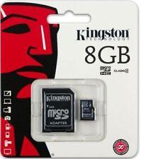 Tarjeta de memoria microSD Kingston de 8GB Clase 4 C4 microSD SDHC 8G SDC4 / 8GB