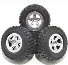Traxxas 1/10 Slash Kumho Road Venture MT Tires 12mm Silver Wheels Set 2WD XL5