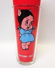Vintage 1973 Looney Tunes/Pepsi Collectors Glass Petunia Pig Mint
