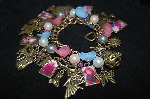 Custom Your Photos Children Grandchildren Personalize Bronze Tone Charm Bracelet
