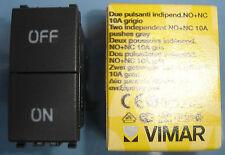 VIMAR 20058 Eikon grigio scuro antracite Due Pulsanti indipendenti NA + NC 10A