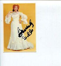 Beverly Sills Opera Soprano Singer Signed Autograph Photo