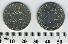 Barbados 1990 - 25 Cents Copper-Nickel Coin - Morgan Lewis Windmill